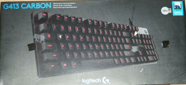 Logitech G413 Mechanische Gaming Tastatur - Carbon (920-008304)
