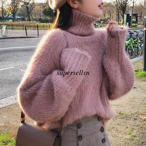 Korean-Women-Turtleneck-Winter-Thermal-Pullover-Sweater-Jumper-Knit-Top-Blouse