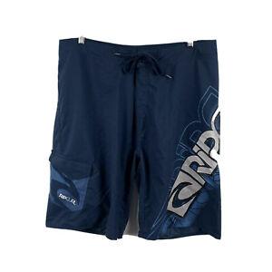 Ripcurl-Mens-Board-Shorts-Size-38-Swim-Shorts-Navy-Blue