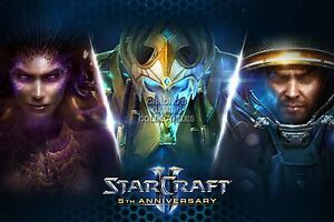 StarCraft II Wings of Liberty Heart Swarm Legacy Void EXT121 RGC Huge Poster
