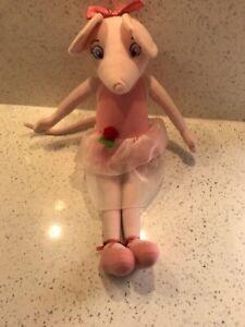 RARO-GRANDE-Angelina-Ballerina-Balletto-Rosa-Giocattolo-Morbido-Peluche-Mouse-Bambola-17-pollici