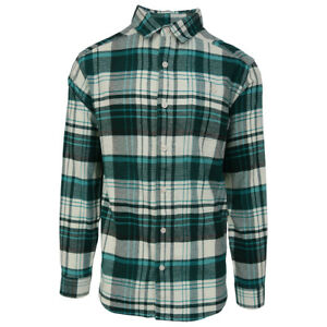Columbia-Men-039-s-Ocean-Green-Cornell-Woods-L-S-Flannel-Retail-60