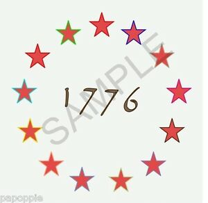 Stencil betsy ross 1776 flag stars 4th of july americana 13 stars image is loading stencil betsy ross 1776 flag stars 4th of publicscrutiny Choice Image