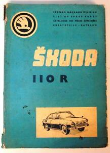 Details About Skoda 1100 R Car Parts List 1973 Czech English French German