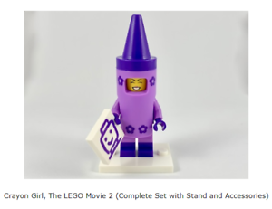 Complete Set with Stand and Accessories The LEGO Movie 2 LEGO Crayon Girl