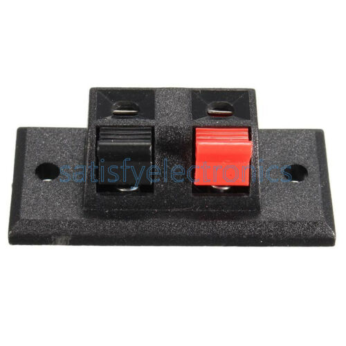 NEW 2P 4P Way Audio Speaker Terminal Double Spring Clip Jack Plug Socket Switch