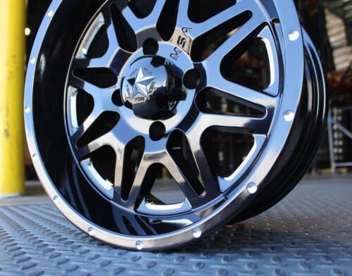 "0 Offset Milled Gloss Black MSA M26 Vibe 14/"" UTV Wheel Rim 14x7 4//137"