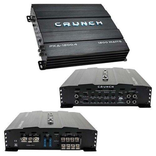 Crunch PXA12004 Amp 1200 Watt 4 Channel Amplifier