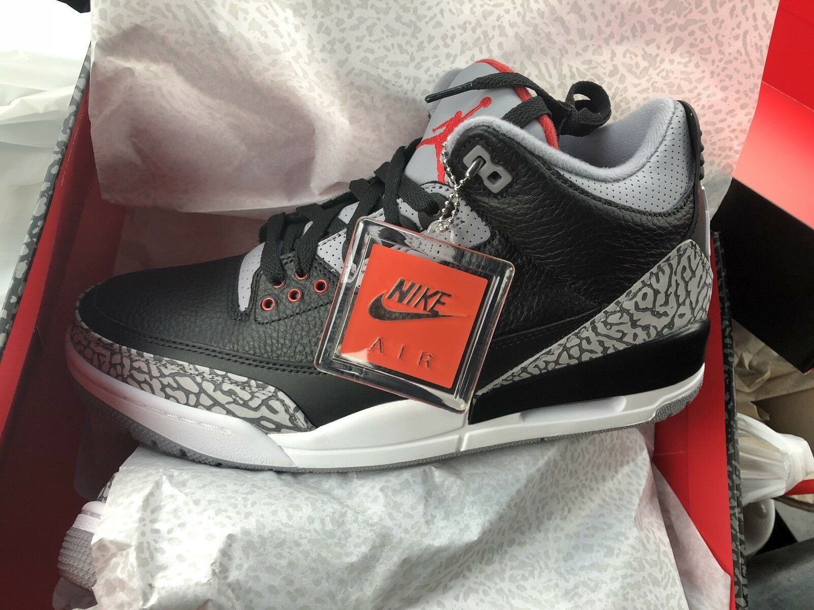 Air Jordan 3 Black Cements 2018 New shoes for men and women, limited time discount
