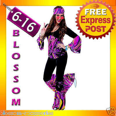 J85 60s 70s Go Go Retro Hippie Girl Disco Dancing Groovy Party Halloween Costume