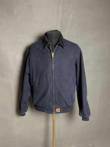 Carhartt Vintage 90s Men`s Blue Denim Winter Jacke