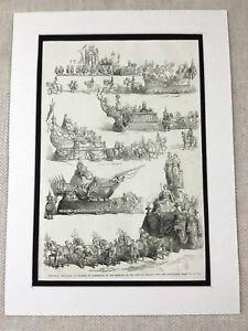 1853 Imprimé Belge Royal Mariage Archiduchesse Marie De Autriche Duke De Brabant