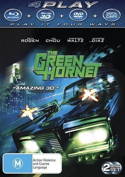 The Green Hornet (3D/2D Blu-ray, 2011) no DVD