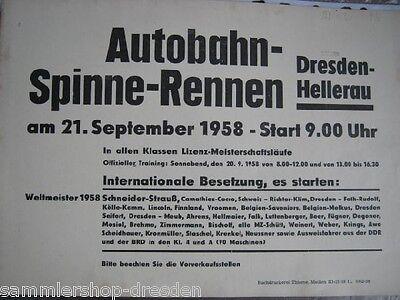 Geschickt Plakat - Autobahn-spinne-rennen Dresden-hellerau Am 21. September 1958