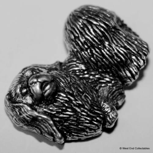 Lion Dog Chinese Spaniel Pekingese Dog Pewter Pin Brooch British Hand Crafted