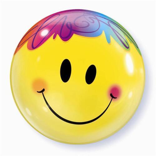 Bright Smile Face 22 Inch Qualatex Bubble Balloon