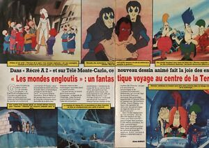 Détails Sur Coupure De Presse Clipping 1985 Les Mondes Engloutis Dessin Animé 2 Pages