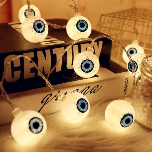 Battery Powered Halloween Decor Light USB 5V 1.5//2M Ghost Eyes Ball String Light