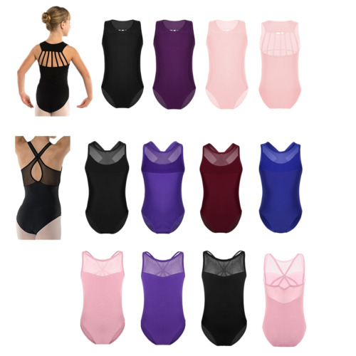 Kids Girl/'s Strappy Back Gymnastics Ballet Dance Camisole Leotard Tops Dancewear