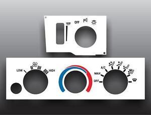 1993-2002-Pontiac-Firebird-Defrost-White-Heater-Control-Switch-Overlay-HVAC