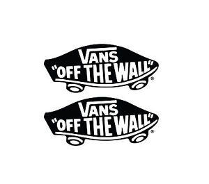 Image is loading 2-x-VANS-STICKER-LOGO-VINYL-DECAL-SKATEBOARD-  sc 1 st  eBay & 2 x VANS STICKER LOGO VINYL DECAL SKATEBOARD CAR CLOTHING OFF THE ...