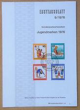 FDC Ersttagsblatt - Germania Bundespost 1976 - Sports