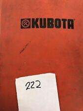 Kubota Parts Book Mowertiller