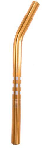 """Old School Bmx 22,2 mm alliage plissé Layback tige de selle 16 /""""tige de selle gold"""