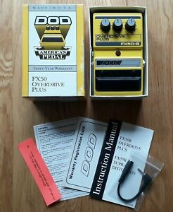 DOD FX50B 1997 Overdrive Plus Guitar Effects Pedal vintage Made in USA FX50