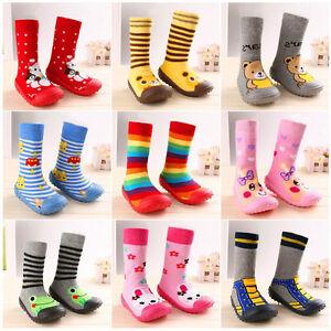 Anti Slip Baby Cotton Kids Socks Rubber Soles Infant Socks