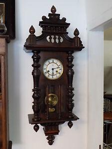 Jugendstil Regulator Junghans Holzgehause Glocke Pendel Uhrwerk