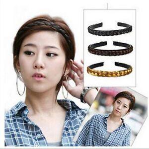 Hot-1CM-1-5CM-Girl-Women-Hair-Braided-Plaited-Headband-Synthetic-Hairband-Newly