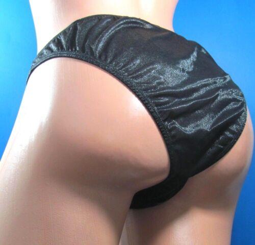 B21 Black Red sparkle Men/'s sheer cross front sissy bikini panties OS