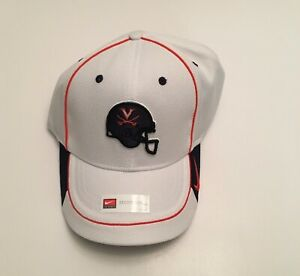 R1) University of Virginia UVA Cavaliers Nike Football White Blue Large Hat