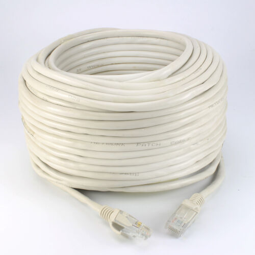 50ft 100ft Cat5e RJ45 24AWG UTP Ethernet LAN Network Patch Cable Pure Copper US