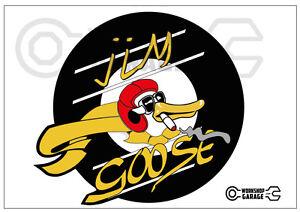 Mad-Max-Jim-Goose-kwaka-sticker-Round-Cut-XX-Large-Sticker