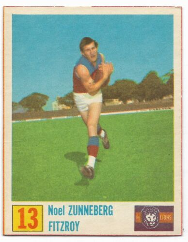 1971 Kelloggs 13 Noel ZUNNEBERG Fitzroy { Superior Condition }