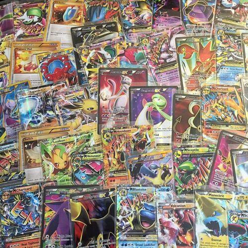 POKEMON 2 RANDOM HOLO CARD LOT GUARANTEED GX HYPER MEGA EX FA OR RARE OFFICIAL