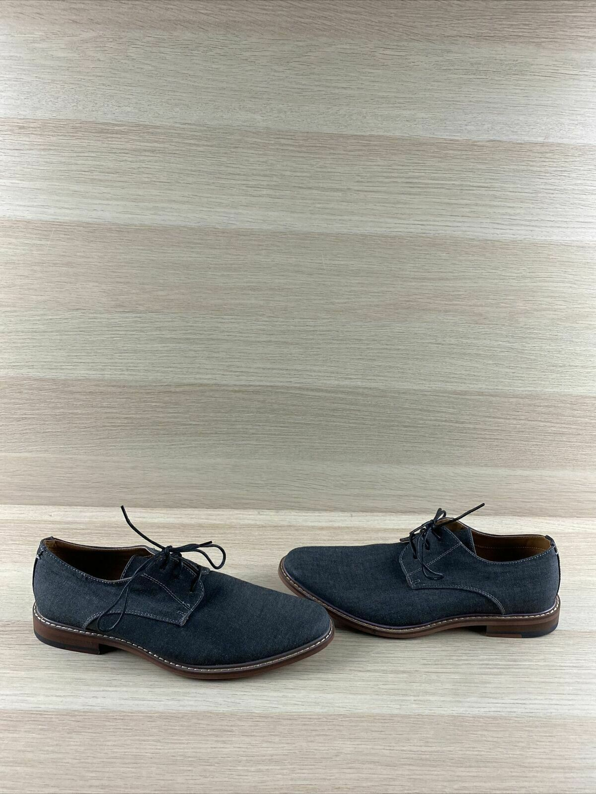 J75 by JUMP 'Primo' Navy Gray Textile Round Toe Lace Up Oxfords Men's Size 9