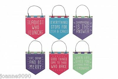 BRIGHT SLOGAN GIFT HOME HEN PARTY SUMMER FAVOURS SIGNS PENNANT DECORATION GIFT
