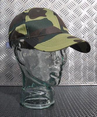 Genuine German Army Flectarn Camouflage Peak Baseball Cap Size 59cms Hat