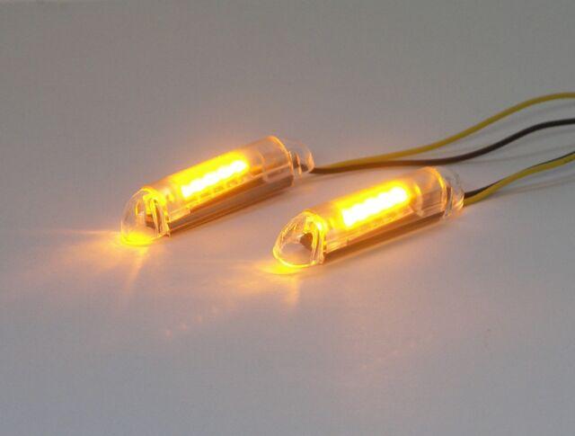 """Sport Bike Flush Mount LED Turn Signals w/ Load Equalizer - Clear Lens - 1.5"""""""