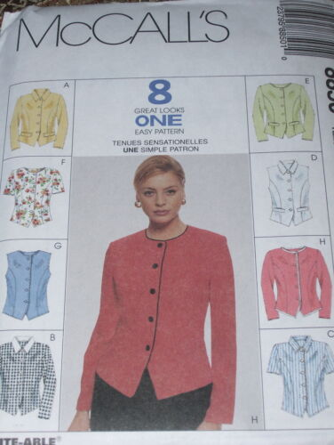 UNCIRCULATED McCALL/'S #8850-LADIES TOP-JACKET-VEST PATTERN  8-18 FF 8 STYLE