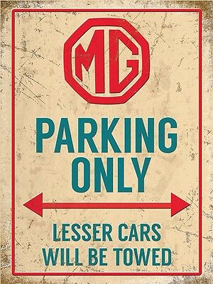 MGB PARKING SIGN RETRO VINTAGE STYLE 6x8in 20x15cm garage workshop art