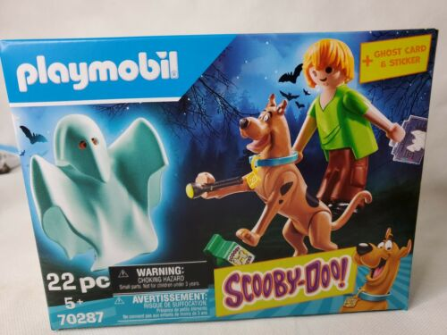 Playmobil Scooby Doo Set 70287 Shaggy Scooby Doo Glow In The Dark Ghost New