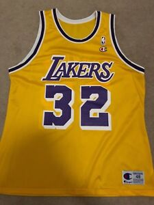 online store 8c009 1756f Details about MAGIC JOHNSON CHAMPION JERSEY LOS ANGELES LAKERS SIZE 48 NBA  LONZO BALL KOBE