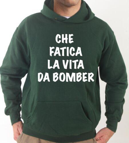 Felpa Con Cappuccio KJ1306 Che Fatica La Vita Da Bomber