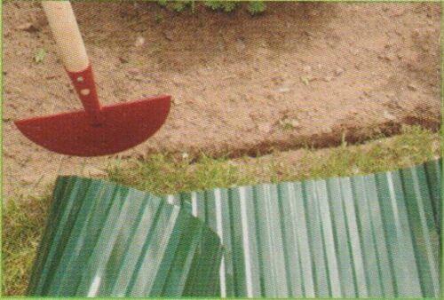 Rasenkanten Rasen Einfassungen Beetrand  Rasen Grenzen Schwarz 9mX 20 cm