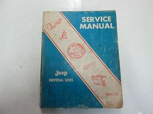 1976 jeep universal series 4wd 2wd cj 3b 5a 5 6 6a dj 5 6 service rh ebay com universal jeep service manual pdf
