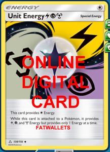 4x unidad de energía 118//156 Ultra Prisma ptcgo tarjeta digital en línea